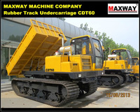 China Cheap 6Ton Hydraulic Crawler Sugarcane Transport Vehicle , CE / ISO / SGS , Model: CDT60