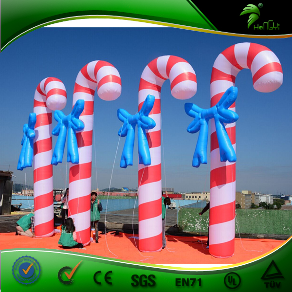 Inflatable Candy Cane Inflatable Christmas Figures Outdoor Decoration Inflatable XXXL Giant Candy