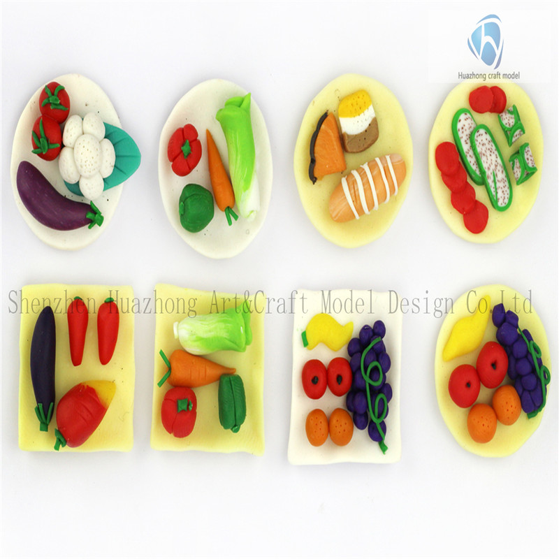 1: 20 Diecast Clay Model Vegetable Plate with The Fruit