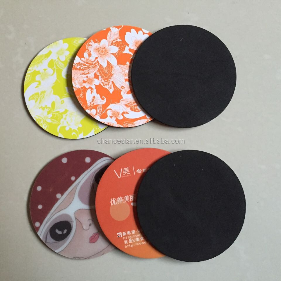 custom printed paper coasters Design custom mouse pads by uploading your photos, logos or artwork our new  printing technology and smoother feel makes these personalized mouse pads.
