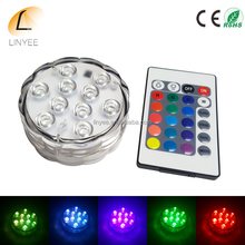 Submersible IP67 Waterproof LED Lights MultiColor Wedding Vase Submersible Floral Led Base Light with Remote Controller