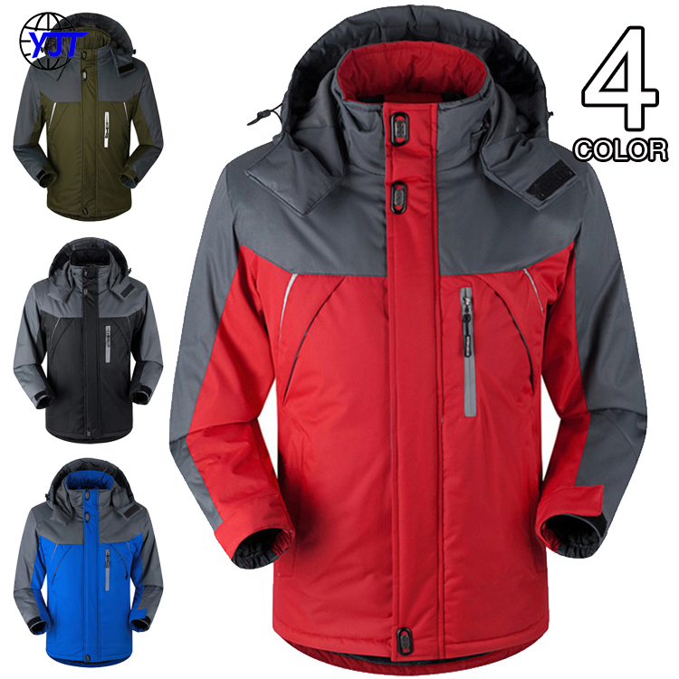 Men's Winter Inner Fleece Waterproof Jacket Outdoor Sport Warm Brand Coat Hiking Camping Trekking Skiing Male Jackets