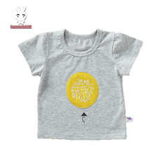 summer short sleeved Breathable baby boy t shirt