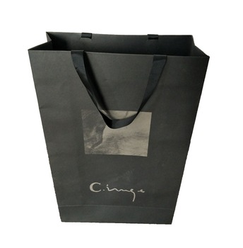 high quality custom logo print paper bag shopping bag matt finish