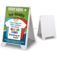 eco flex outdoor advertising double side pavement sidewalk white plastic A Frame