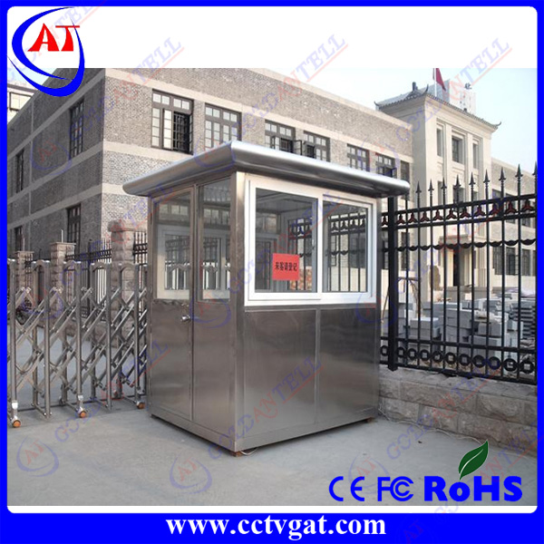 Prefabricated mobile tiny house outdoor portable booth stainless steel kiosk