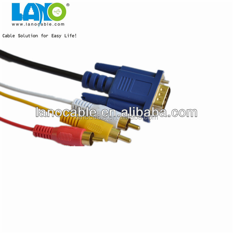 vga to 5 rca component video cable could ship out with in 7 days
