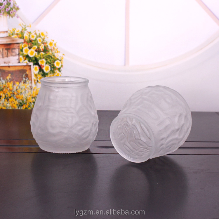 candle glass jars  holder frosted glass cup 390ml