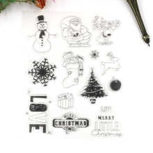 happy christmas customize clear stamps