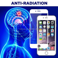 9H hardness 2.5D round edge anti-radiation tempered glass screen protector for iphone6&iphone6 plus