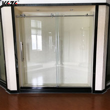 Rectangle 8mm glass portable fiberglass corner shower enclosure