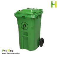 240L Outdoor Plastic trash can with Wheels