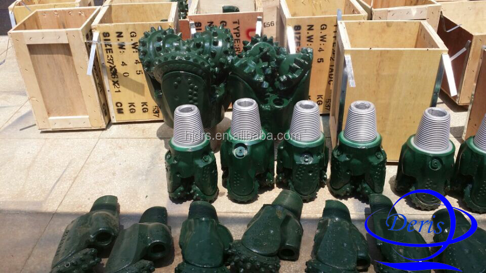 API water well drilling equipment used tricone bit palm for steel tooth tricone roller cone drill bit