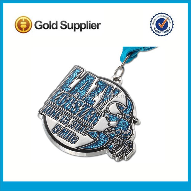 Manufacturer Wholesale Cheap Antique Plated Souvenir Award Medals Custom Gold Sports Medals with Ribbons