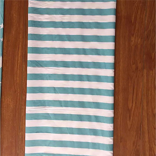 stripe printing pure cotton fabric for home textile bedding set