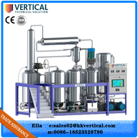 Vacuum system high oil quality waste oil reifnery/used lube pyrolysis oil distillation plant