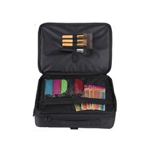 1CS0236 Wholesale Waterproof Nylon Cosmetic Organizer Bag, Professional Big Beauty Makeup Case with Compartment