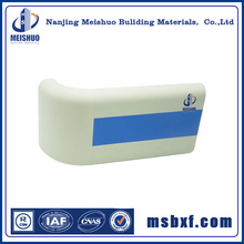 Hospital indoor wall and stair plastic handrail capping