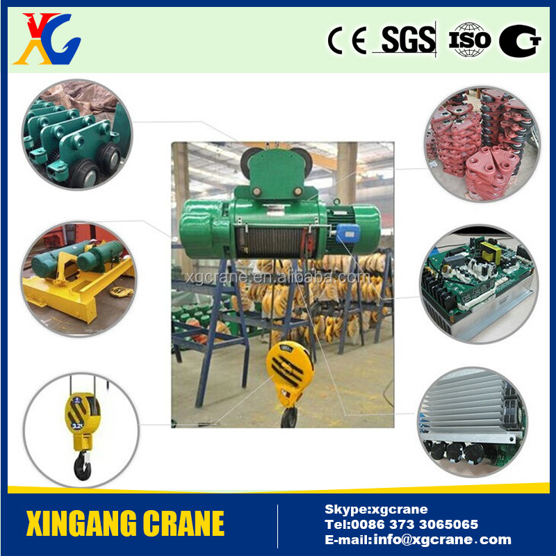 5 ton 10 ton electric wire rope motor hoist harga