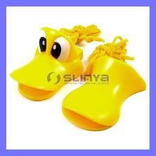 Plastic Duck Toy Duck Whistle with Necklace