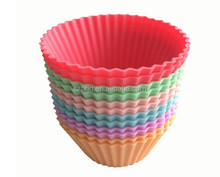 Silicone Baking Muffin Cups, Set of 12 Reusable Non-stick Cupcake Liners,No BPA