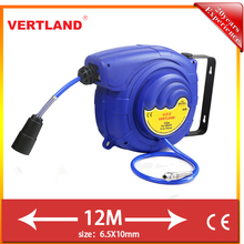 12m expandable rewindable air hose reel with anti-uv case