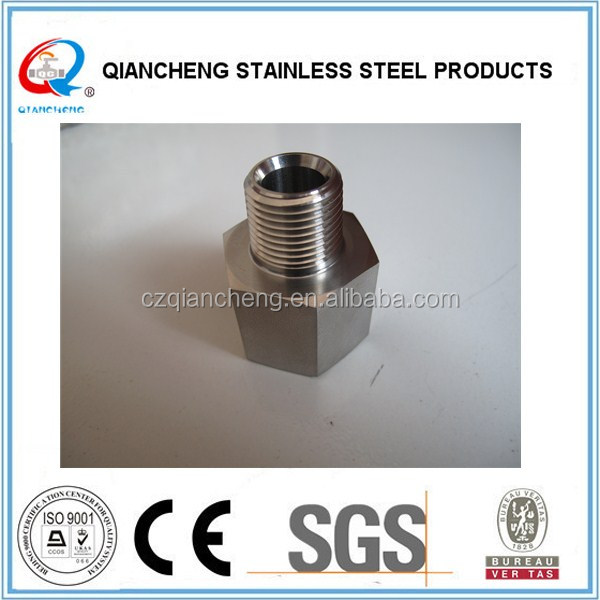 Top quality stainless steel hydraulic adapter