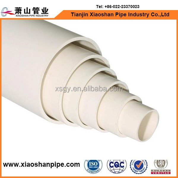 pvc waste pipe and 5 inch pvc pipe for water supply