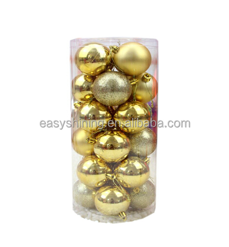2014 Hot Selling Environmental 6cm Plastic Christmas Ball