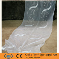 2015 newest elegant leaf style embroidered cafe curtain