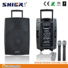 Professional active karaoke sound mixer wireless microphone loudspeake