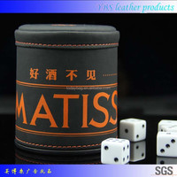 High Rollers Personalized Custom Leather Gamers Dice Cup