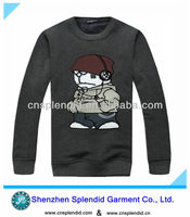 United states autumn cute logo gray thick long sleeve t shirts for men