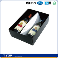 2 pack cardboard wine bottle carrier