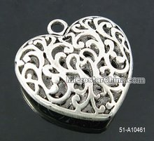 Open heart pendant hollow heart pendant large heart pendant