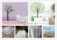 Material of self kids height measurement wall sticker growth chart