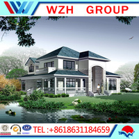 2016 Strong and cheap foaming concrete prefabricated house and villa