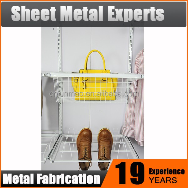 Modern Furniture Design Closet Parts Wall Hanging Mesh Basket