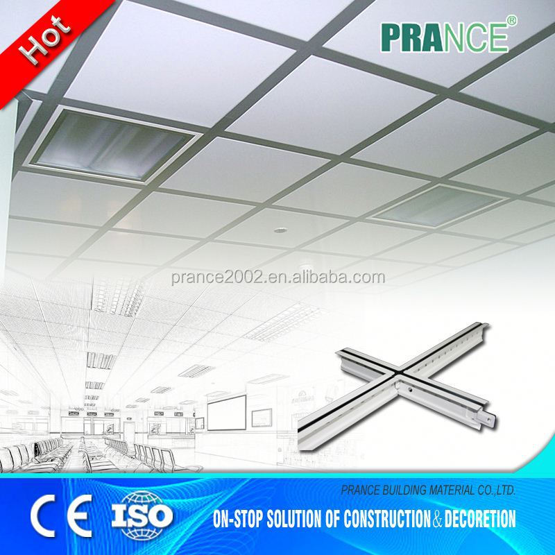 Variable Wide selection pvc ceiling grid system
