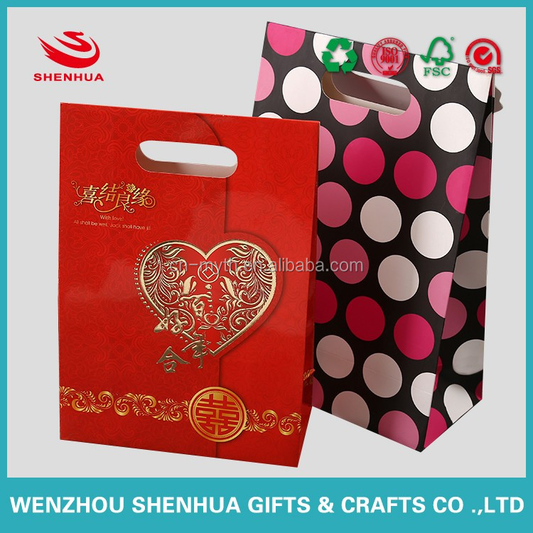 wholesale manual paper bag for wedding candy