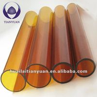dark amber 1220mm 3.3borosilicate glass tube cutting for building and drinkware
