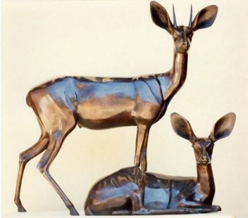 Steenbok Pair Sculpture