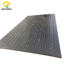 High quality plastic temporary ground protection road mats black recycled UHMWPE road mat