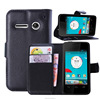Mobile phone leather case for vodefone 875 985n smart 4 power mini