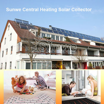 Sunwe central heating solar collector