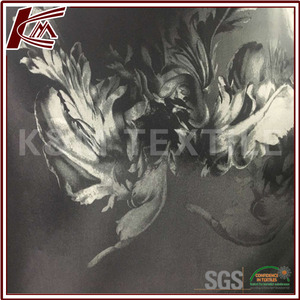 High quality manufacture supplier polyester jacquard fabric/ nice thai silk fabric/ black and white perforated fabric