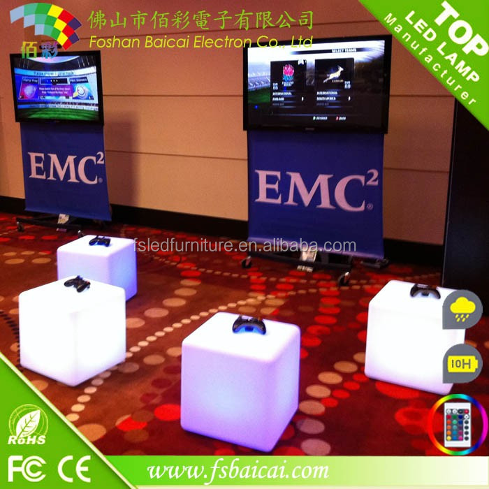 Manufacturer directly led plastic cube bar table