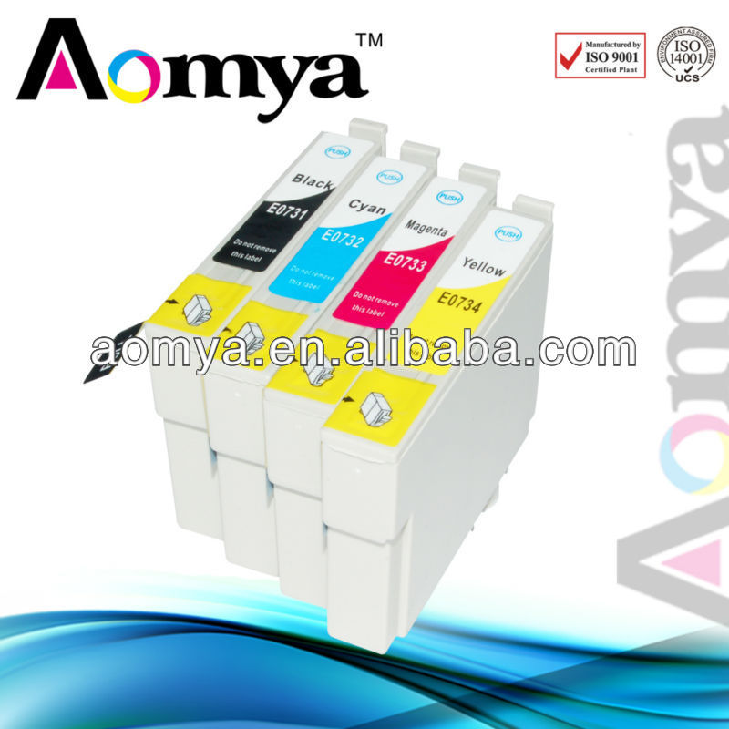 73N (T0731-T0734) compatible ink cartridge for Epson Stylus T10/ T11/ T20/ T21/ T40W/ T13/ TX220/ T20E/ TX213