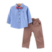 2017 Hot sale long sleeve baby boys suits children's boutique clothing