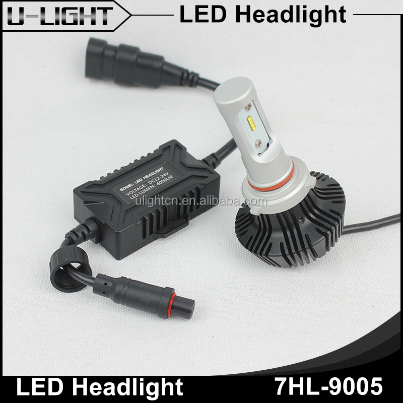 U-Light G7 unique design 9005 car led headlight, best beam pattern cars 9005 led headlight bulbs